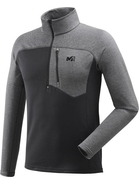 Millet Technostretch Zip Shirt Men Noir/Heather Tarmac
